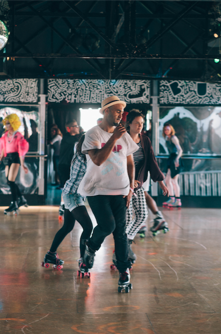 BUMP Roller disco at Winter at Southbank Centre with NatWest | Courtesy of Southbank Centre