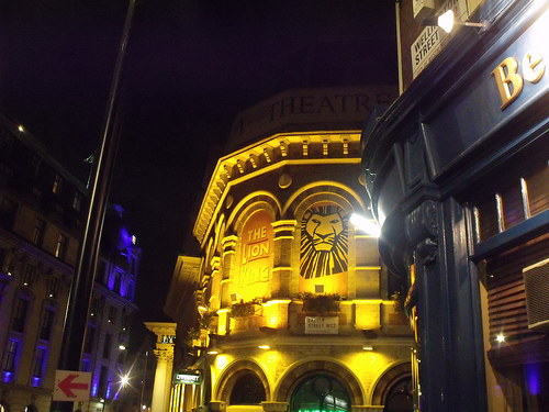 'Lyceum Theatre - Wellington Street, London - The Lion King' | © Elliot Brown/ Den P Images