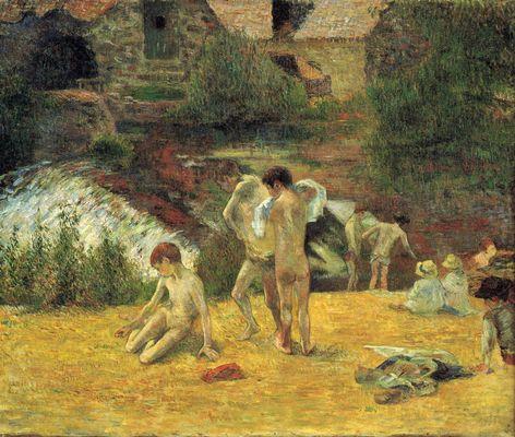 Paul Gauguin - Jeunes Bretons au bain | © Wiki Commons