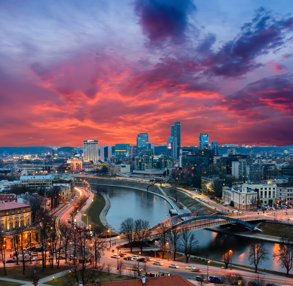 Cityscape of Vilnius, Lithuania. ©RAndrei / Shutterstock