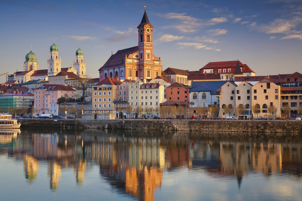 Passau skyline during sunset, Bavaria, Germany | © Rudy Balasko/Shutterstock