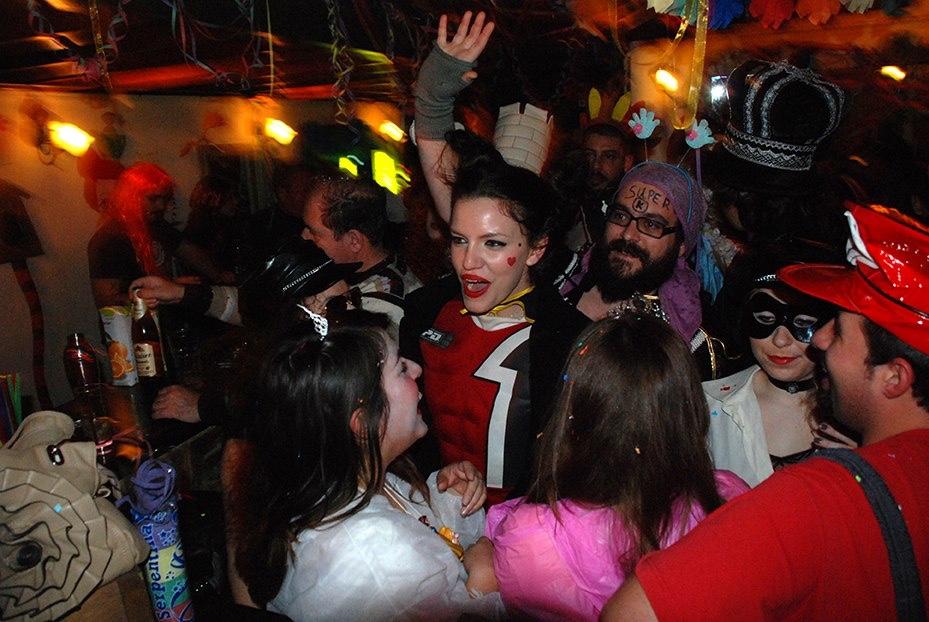 Party at Mousiko Kafeneio/Courtesy of Mousiko Kafeneio