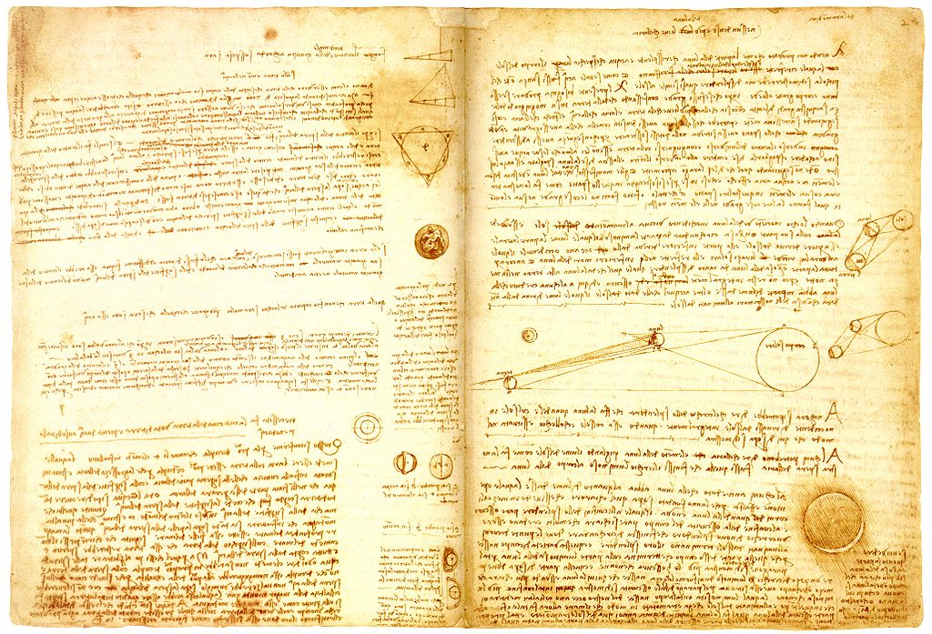 Leonardo da Vinci, Codex Leicester | © Leonardo da Vinci/WikiCommons