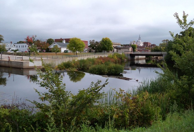 The Cocheco River and central Rochester | © AlexiusHoratius/WikimediaCommons