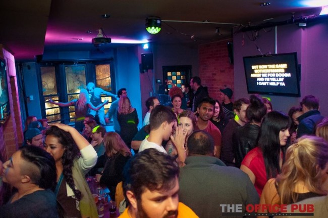 Dance floor and karaoke | Courtesy of The Office Pub