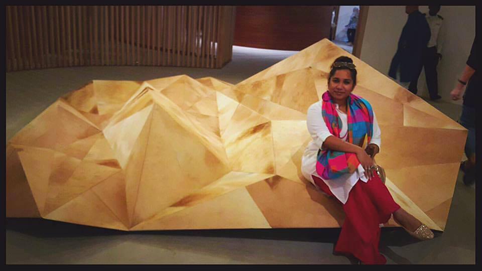 Avantika Mathur at the Abu Dhabi Art Fair 2015 | Courtesy of Avantika Mathur