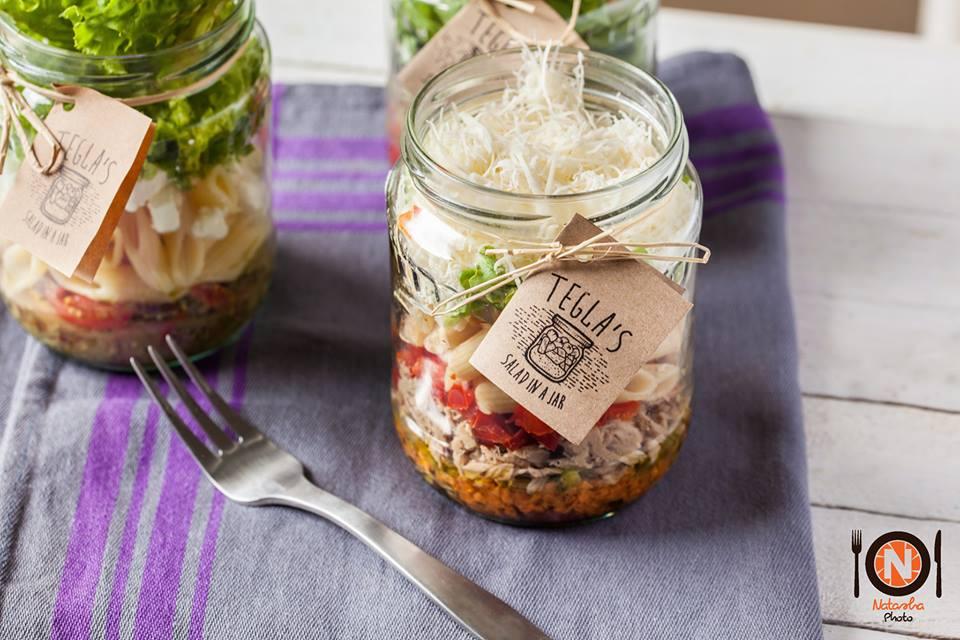Tegla's salad in the jar   © Courtesy of Tegla's