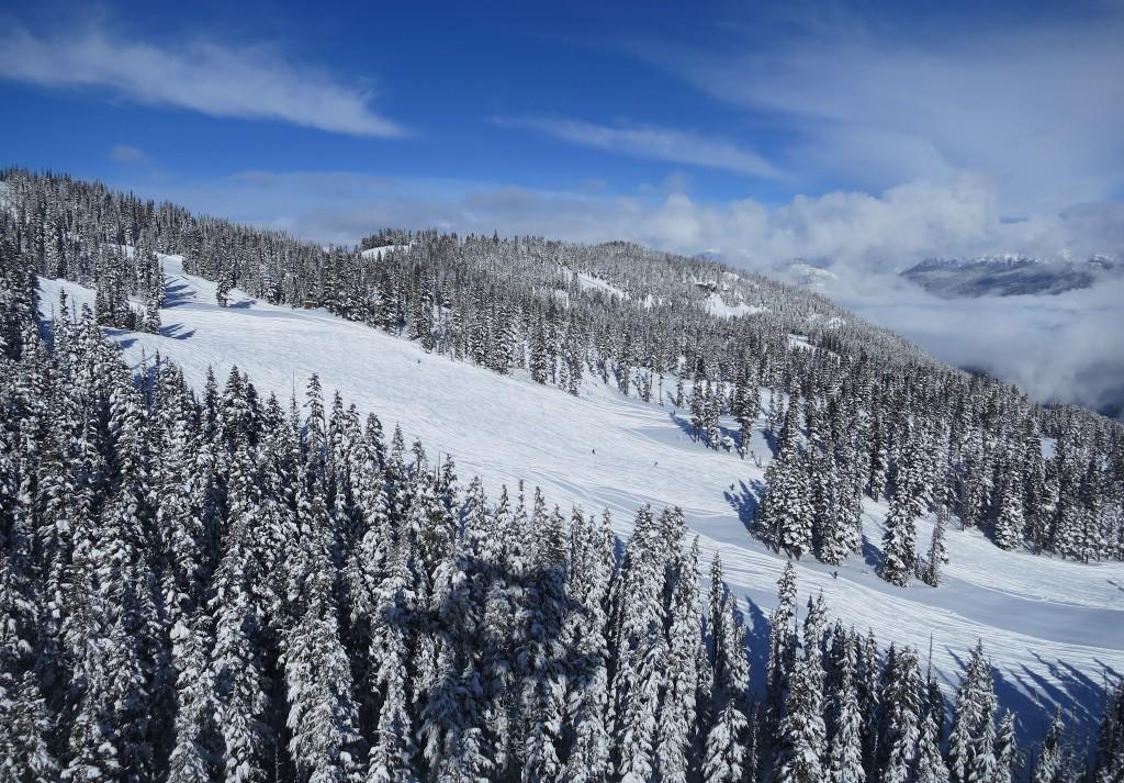View of the ski slopes ©Kris Arnold