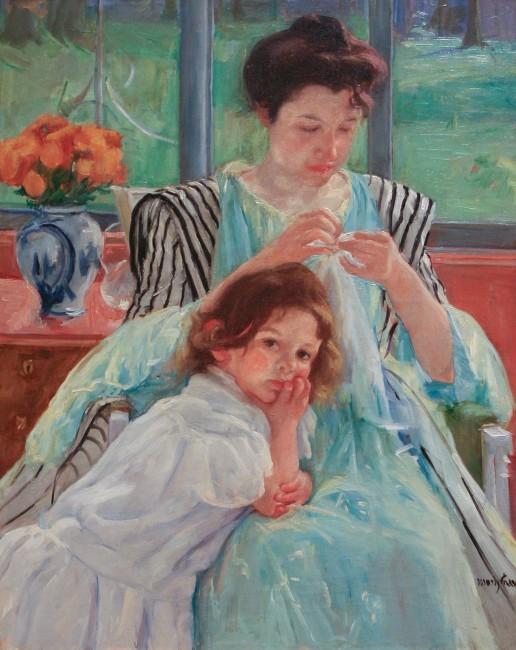 Mary Cassatt, Young Mother Sewing, 1900 | © Sharon Mollerus/Flickr