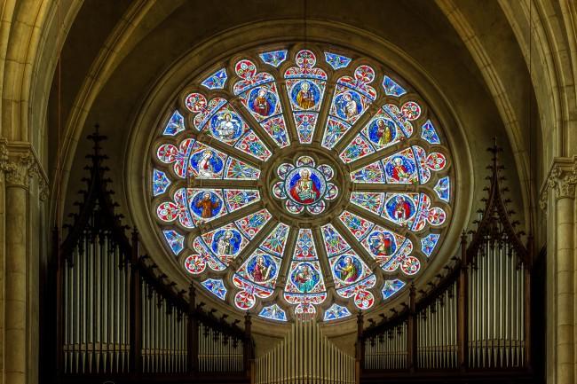 Radfenster der Herz-Jesu-Kirche in Graz © Manfred Moitzi/Flickr