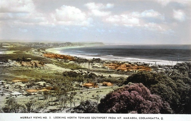 North towards Southport from Mount Marabra, Coolangatta, Australia - 1940s © Aussie~mobs/Flickr
