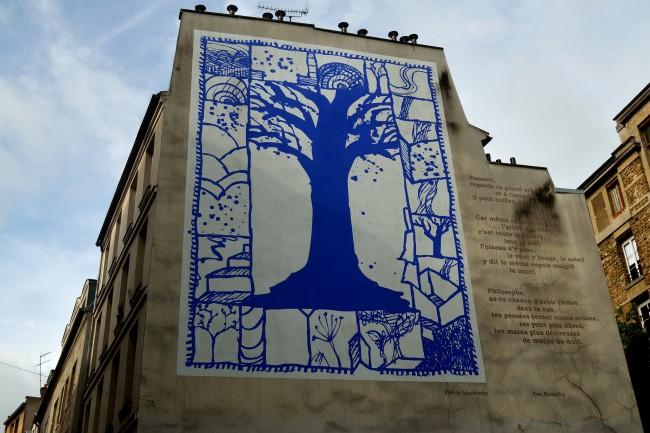 Wall Poet-tree, Rue Descartes | © Tom Hilton/Flickr