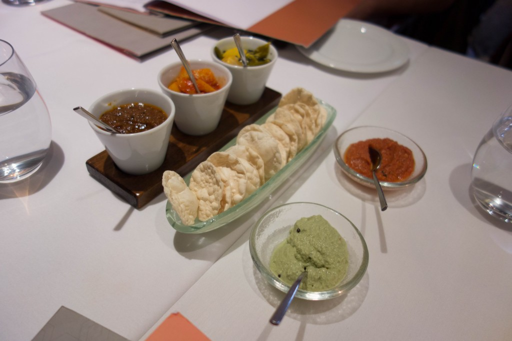 Indian accompaniments at Quilon | © Kent Wang/Flickr