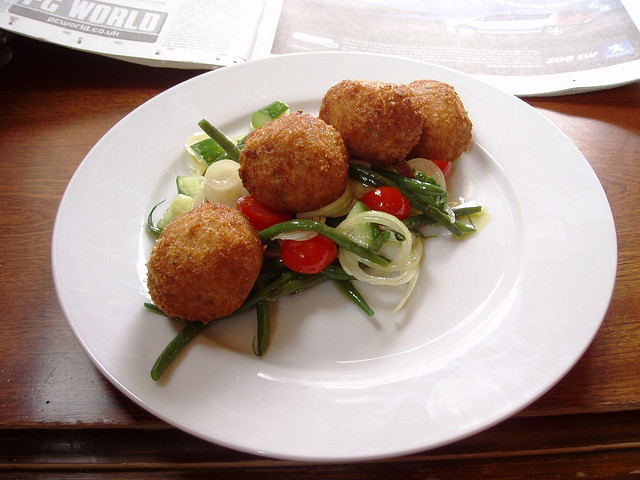 Butternut squash arancini. Ah, more lovely arancini, fried balls of risotto goodness. © Ewan Munro/Flickr