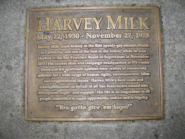 Harvey Milk plaque | © Steven Damron/Flickr