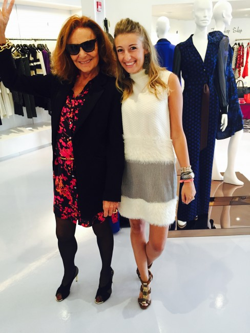 DVF clad young beauty with the designer herself! | © Martha Gibbs Gottwald