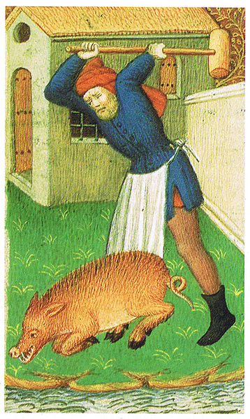 Medieval Pig Slaughter | © Peter Isotalo/WikiCommons