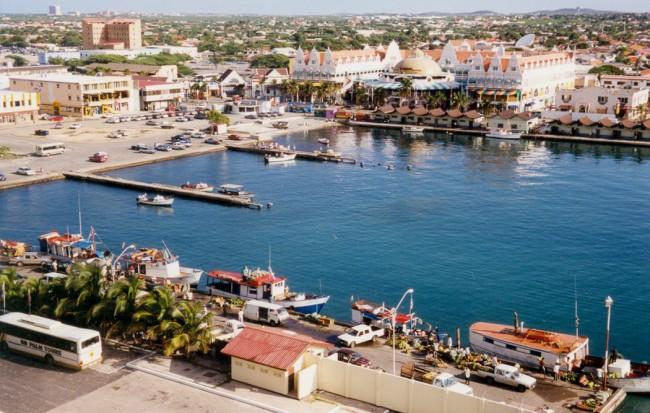Oranjestad, Aruba - Inner Harbor from Ship   © Roger W/flickr