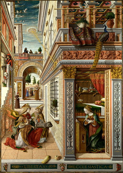 Carlo Crivelli, The Annunciation with Saint Emidius | ©Cancre/ WikiCommons