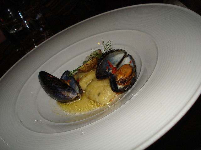 The lightest potato and herb gnocchi with mussels, clams, chilli, Amalfi lemon and fennel tops © Peter Smith / Flickr