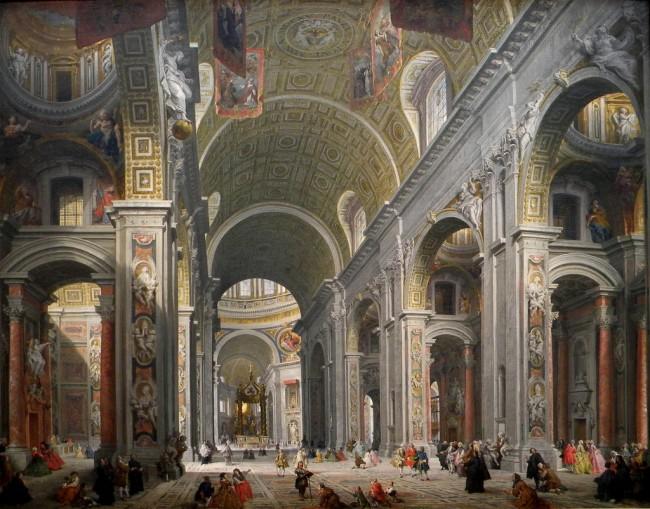 Interior of Saint Peter's, Rome, c. 1754 | ©Jorge Elías/Flickr