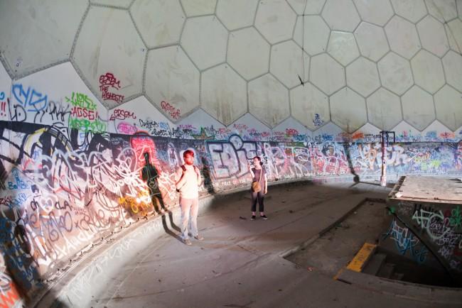 Graffitis at Teufelsberg | © Matt Biddulph/Flickr