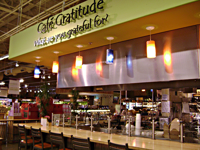 Cafe Gratitude inside Whole Foods Cupertino | © tomatoes and friends/Flickr
