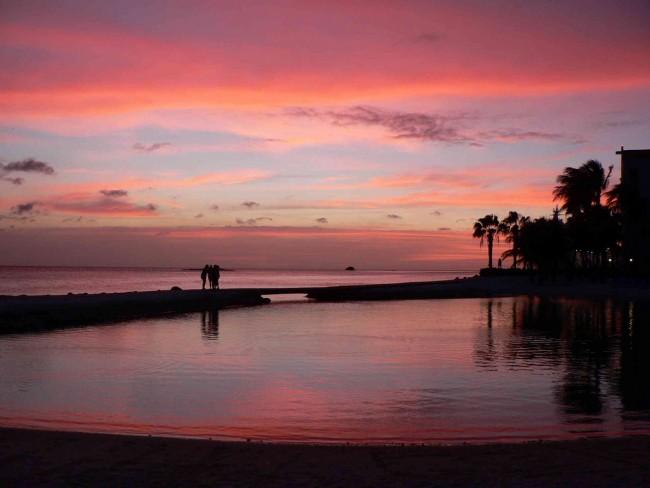 Caribbean Sunset at Oranjestad, Aruba   © David Stanley/flickr