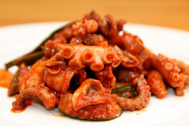 Stir fried octopus| © Kyle Strickland Flickr