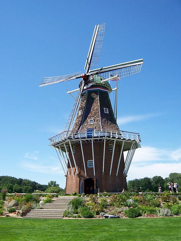 The Dezwaan Windmill In Holland Mi Jarek Tuszynski Wikicommons