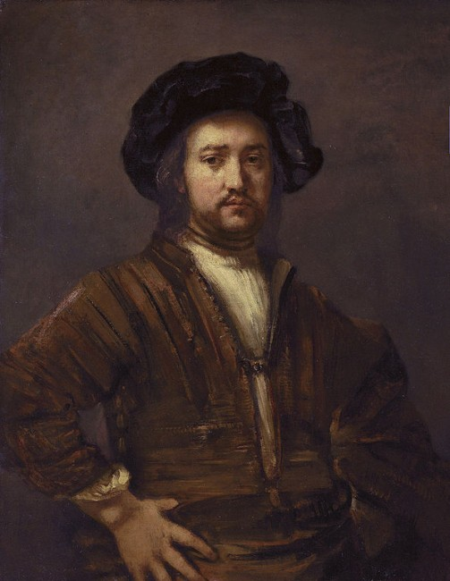 Rembrandt, Portrait of a man with arms akimbo, 1658 | © Rembrandt, WikiCommons