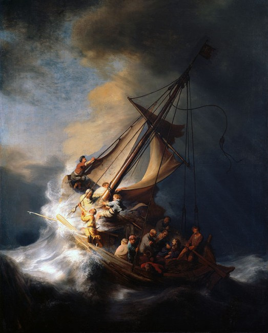 Rembrandt, Christ in the Storm on the Sea of Galilee, 1633 | © Rembrandt/WikiCommons