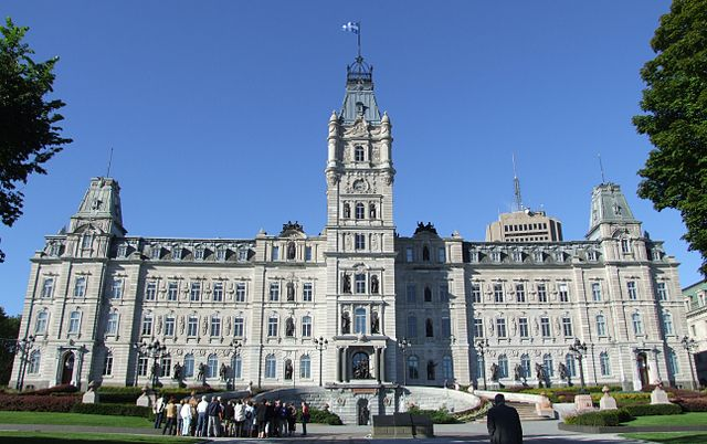 Hôtel du Parlement, ville de Québec ©Christophe.Finot/Wikicommons