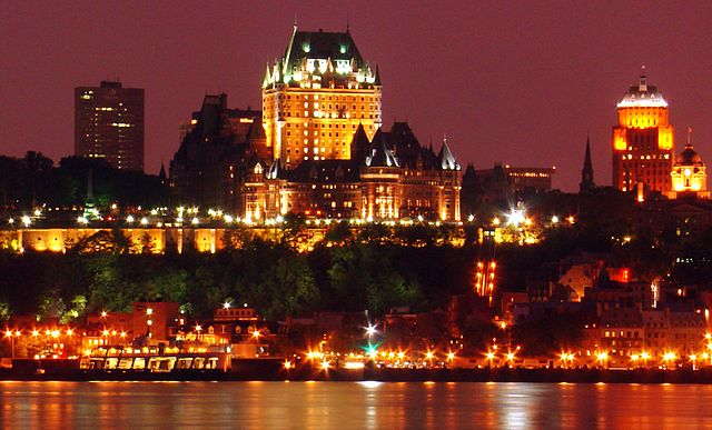 View of Chateau Frontenac and the surrounding area from Levis © Martin St-Amant/Wikicommons
