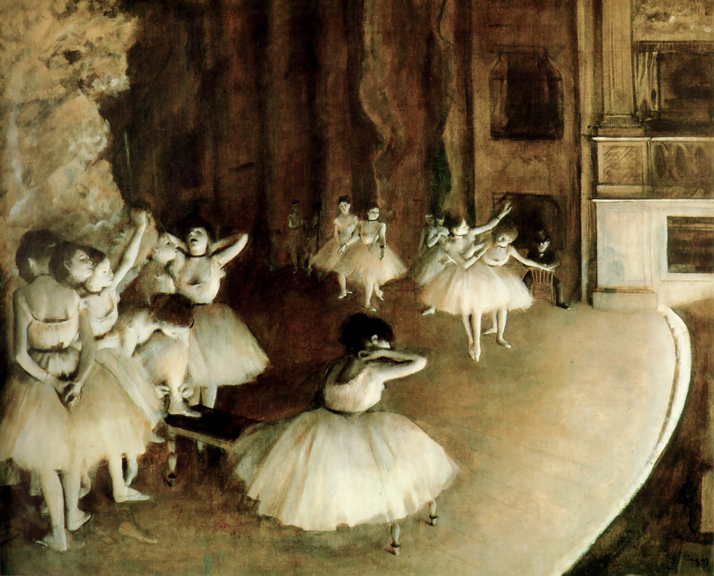 Edgar Degas, Ballet Rehearsal on Stage, 1874 | © cea +/Flickr