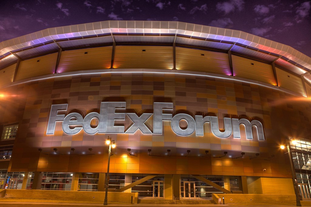 If you are into college basketball, the FedEx Forum is the perfect spot to hit up a game in downtown © Sean Davis / Flickr