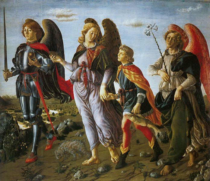 Francesco Botticini, Three Archangels with Tobias | © Eugene a/WikiCommons