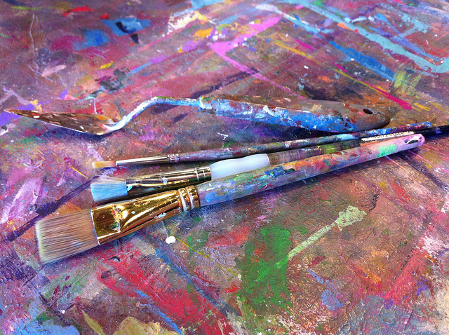 Art supplies | © Celeste Lindell/Flickr