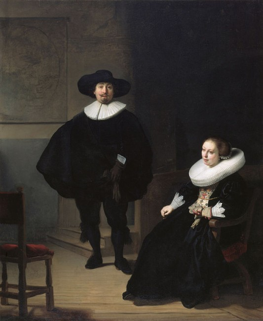 Rembrandt, A Lady and Gentleman in Black, 1633 | © Rembrandt/WikiCommons