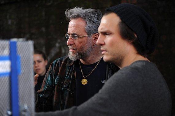 Left: Ari Folman, shooting at The Congress| © The Congress