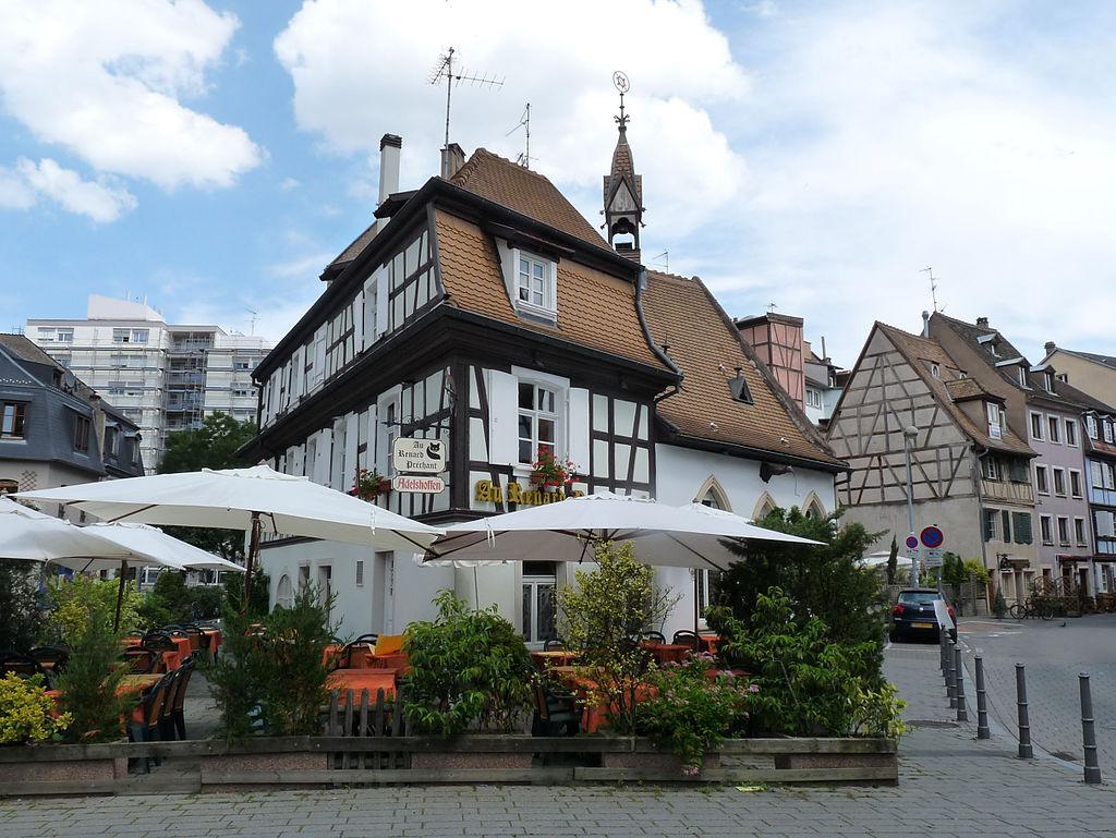Restaurant Au Renard Prêchant dans le quartier de la Krutenau à Strasbourg | ©Ji-Elle/WikiCommons