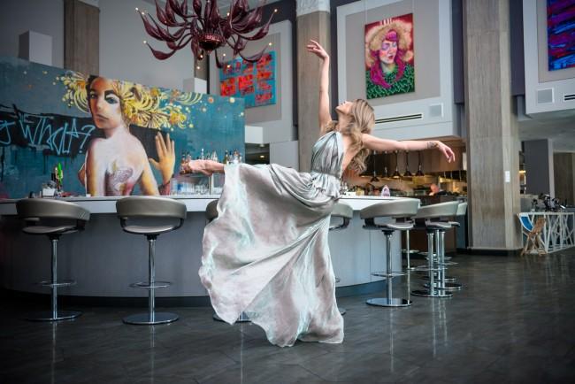 Dancer Lia Cirio In Liquid Art House | Courtesy of Azur Mele