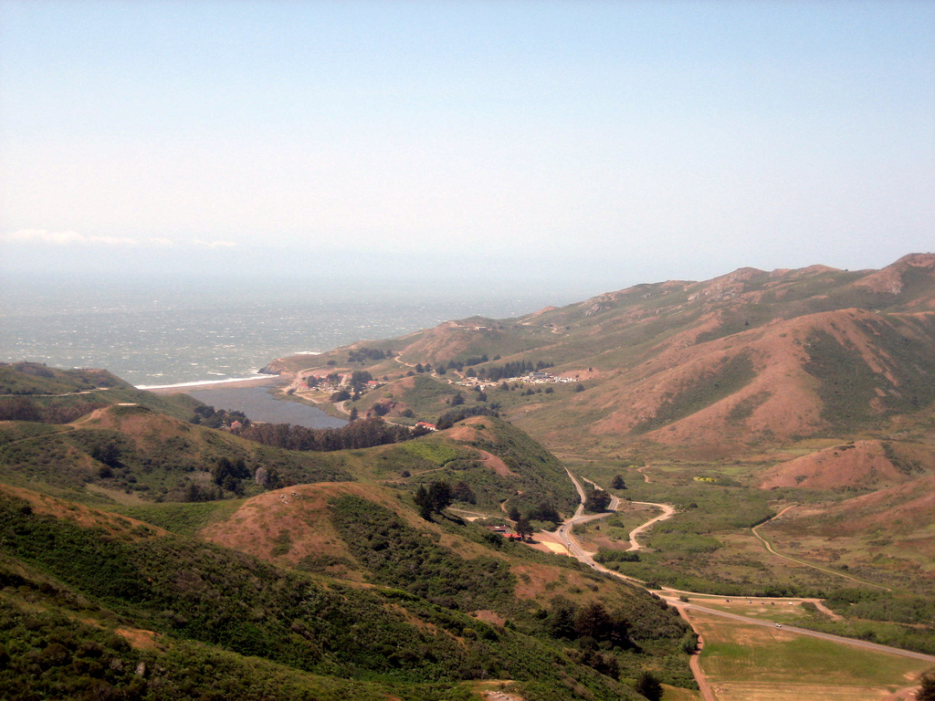 Looking out at Rodeo Beach in the Marin Headlands   © 4johnny5_Flickr