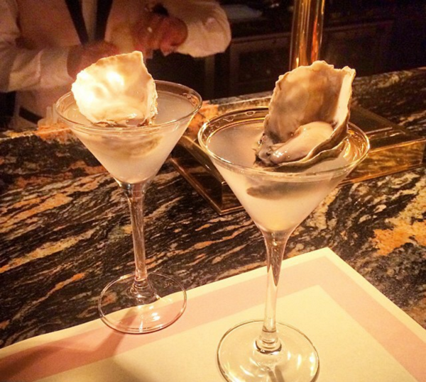 Bob Bob Ricard Oyster Martini | Courtesy of Instagram @bobbobricard