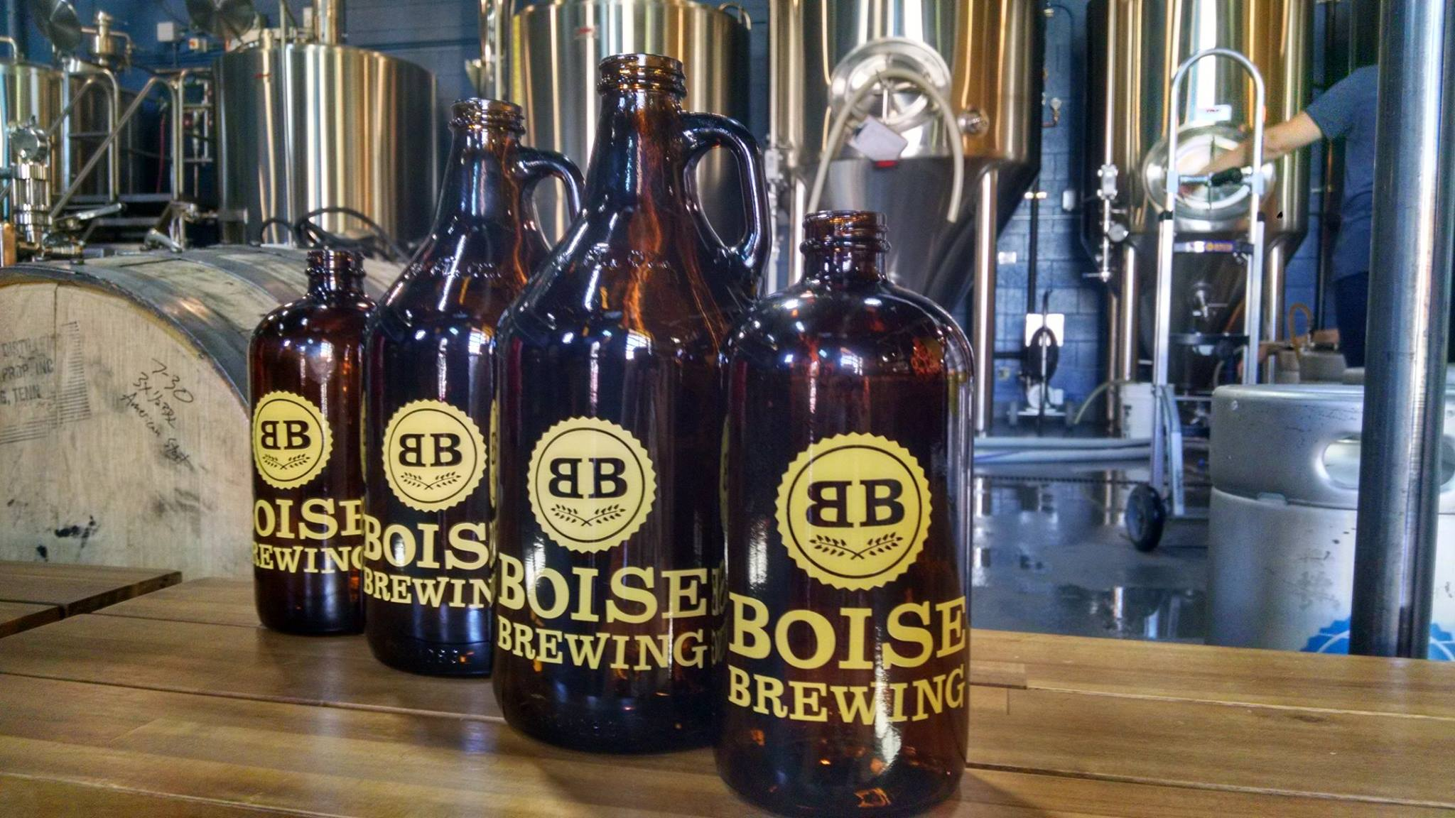 Boise Brewing Growlers | Courtesy of Boise Brewing