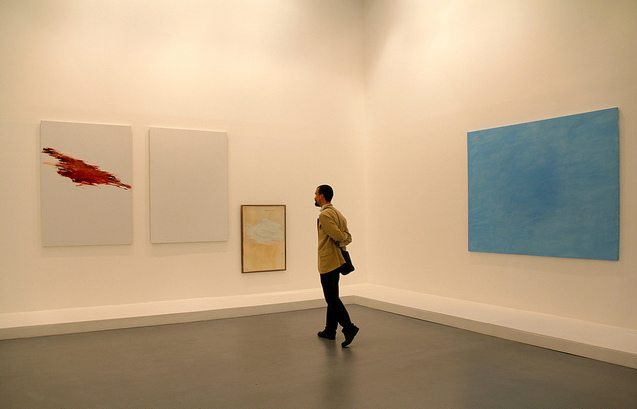 Person Enjoying Works at Caumont Center d'Art | ©Renaud Camus/Flickr