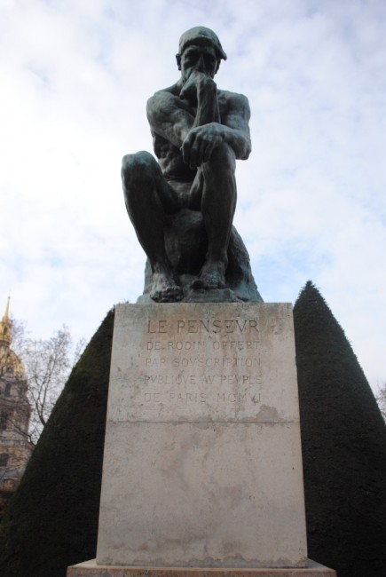 The Thinker by Auguste Rodin, Musée Rodin, Paris | © Molli McConnell