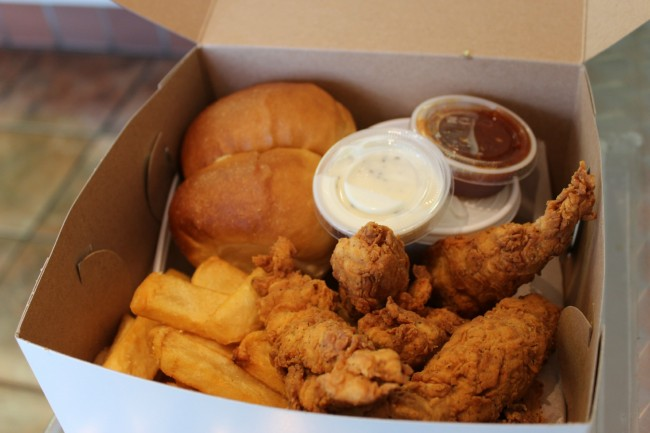 Donahoo's six piece chicken strip meal   Courtesy Donahoo's Golden Chicken