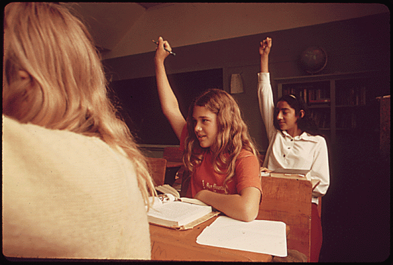 Students in a Classroom in Leakey, 1973 | © Marc St. Gil- Environmental Protection Agency/WikiCommons