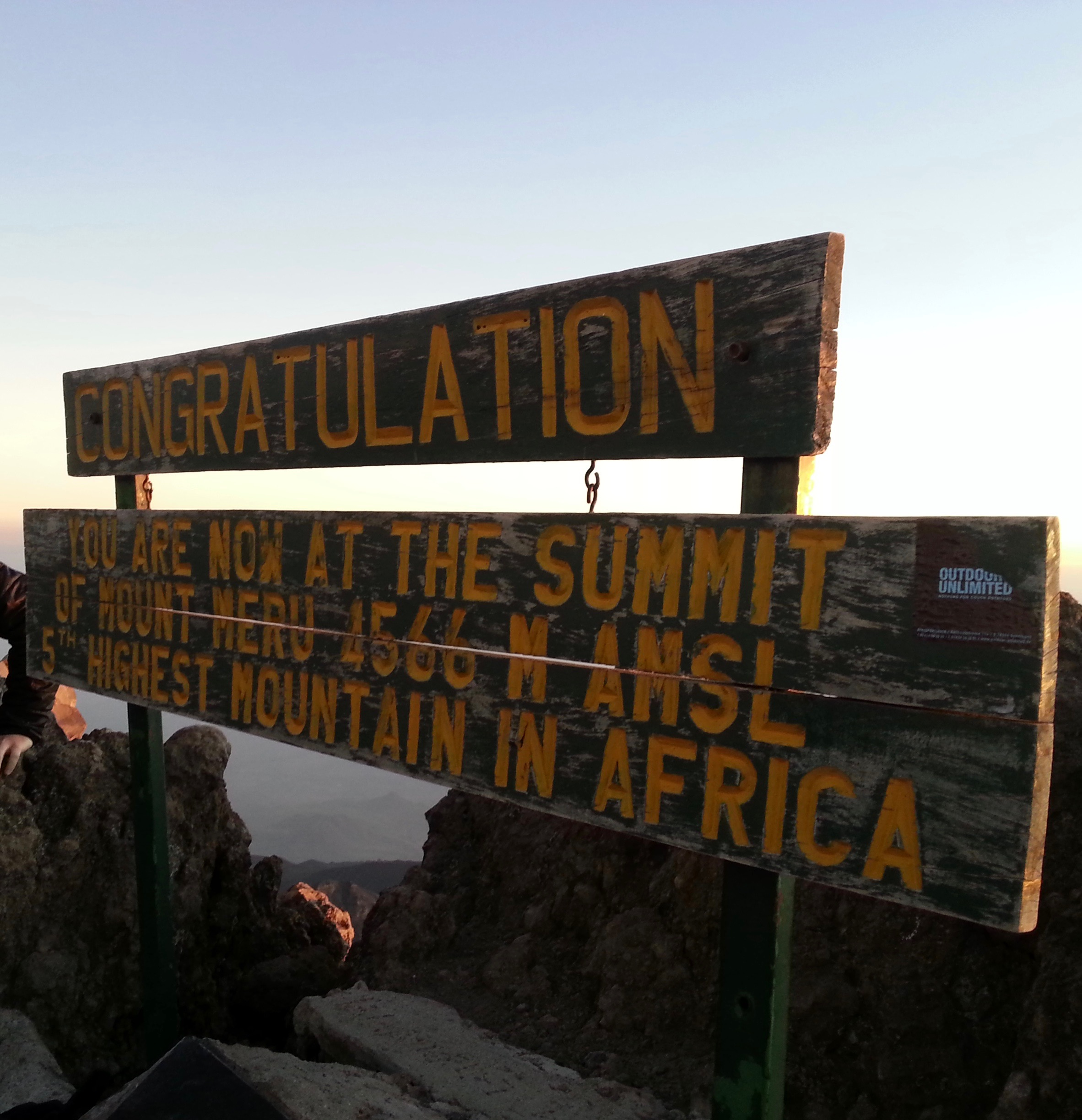 Reaching the Summit: Image Courtesy of Amani Chomolla